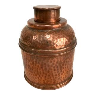 Hammered Copper Vintage Humidor For Sale
