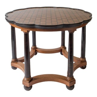 David Blomberg Attributed, Swedish Oak and Ebonized Birch Center Table For Sale