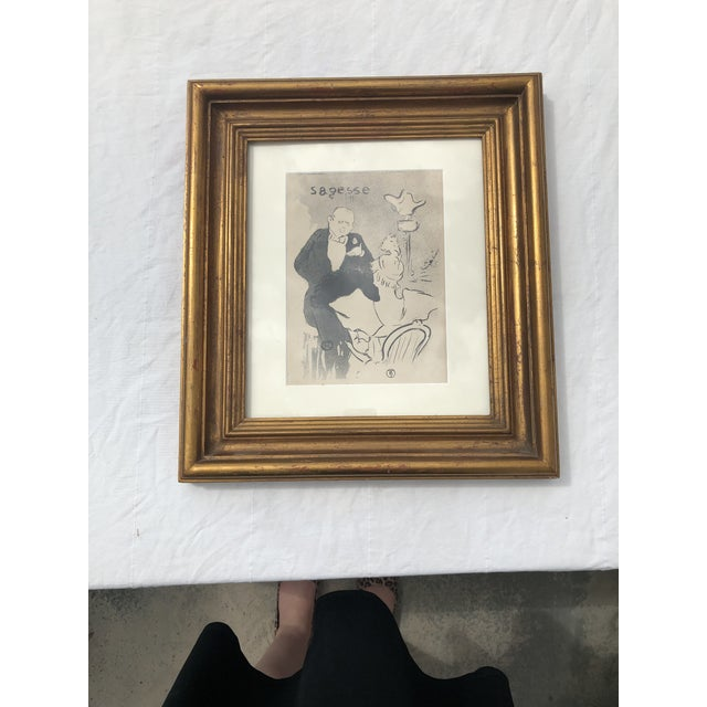 "Framed Print of ""Sagesse"" (Wisdom) by Henri De Toulouse-Lautrec For Sale - Image 13 of 13"