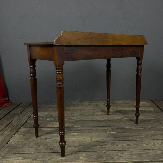 French 19th Century Mahogany Desk With Two Drawers For Sale In New York - Image 6 of 11