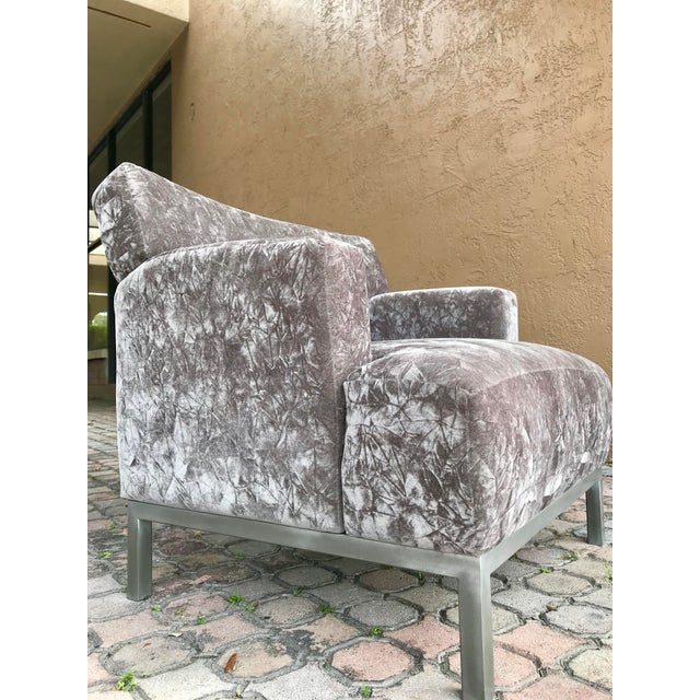 Krug Furniture Modern Carlyle Lounge Chairs - a Pair For Sale In Tampa - Image 6 of 7