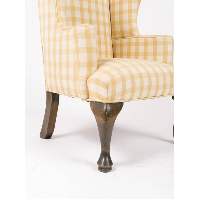 1970s Vintage Children's Wing Chair For Sale - Image 4 of 8