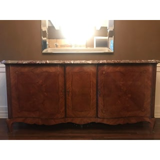 Mid 19th Century Antique French Inlaid Marble Top Buffet Preview
