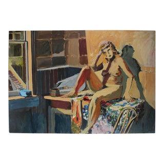 Jack Freeman Large Figure Painting in Oil, Mid-Century For Sale