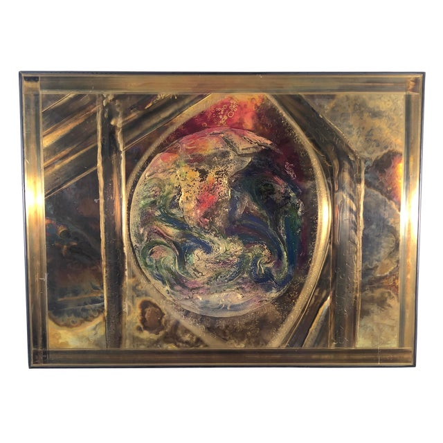 Bernhard Rohne Etched Brass Wall Piece For Sale