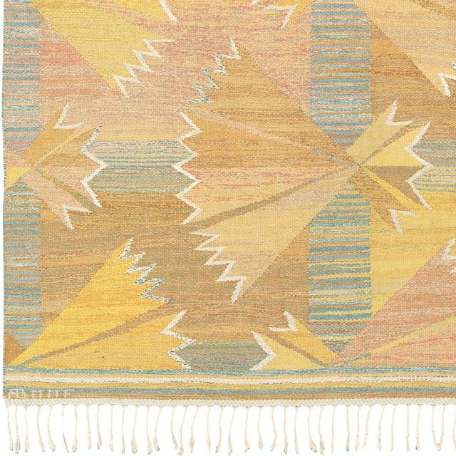 Strutar, gul'. Swedish Flat Weave Carpet Sweden, ca., 1943. Initialed: AB MMF, BN (Märta Måås-Fjetterström, Barbro...
