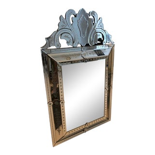 Vintage Venetian Rectangular Mirror For Sale