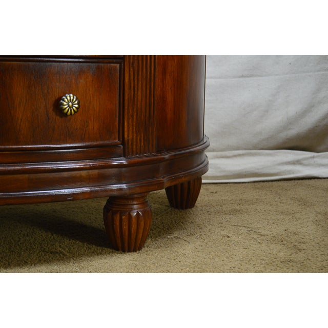 1990s Hooker Furniture Seven Seas Collection Demilune Chest of Drawers For Sale - Image 5 of 13