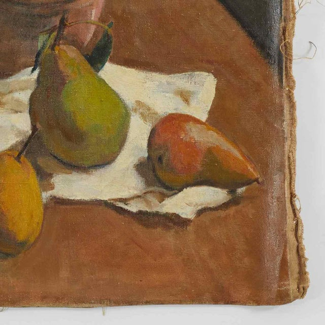 Early 20th century still life oil painting on canvas by artist B. Buchet.