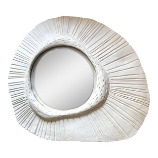 French Plaster Convex Sunbust Mirror For Sale