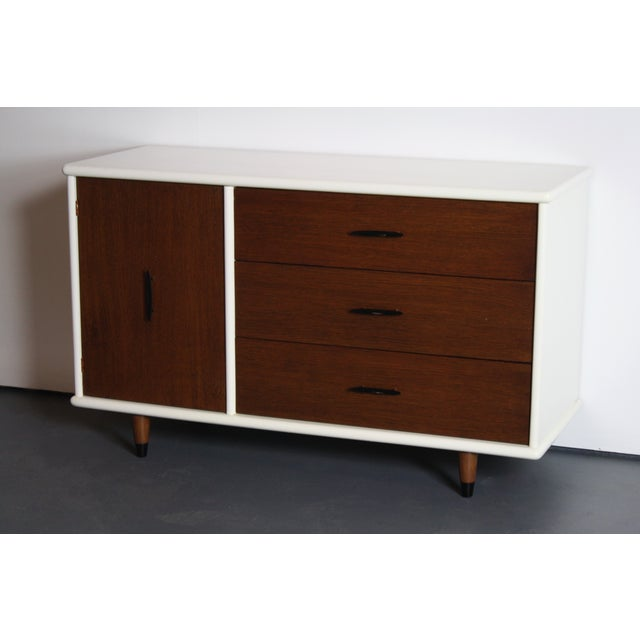 Brown 2-Tone Mid Century Modern Dresser For Sale - Image 8 of 8