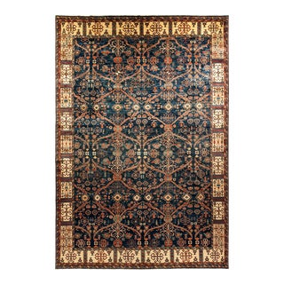One-Of-A-Kind Oriental Serapi Hand-Knotted Area Rug, Denim, 10' 8 X 15' 7 For Sale