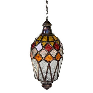 Hanging Lantern With Kaleidoscope Accents For Sale