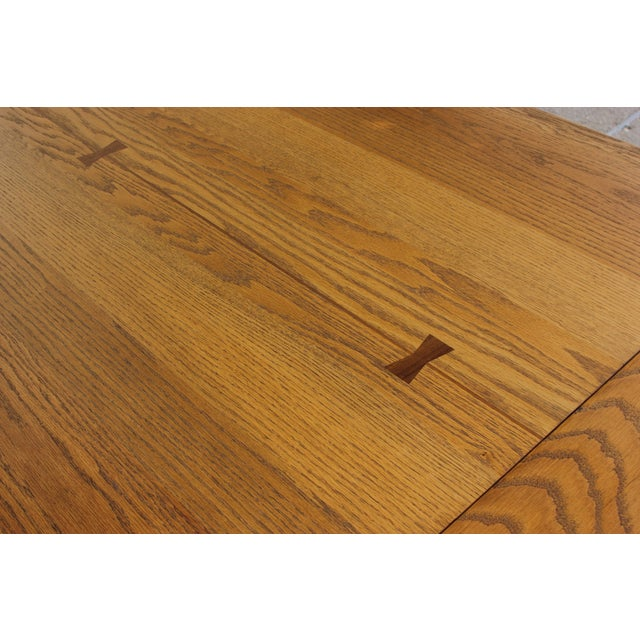 Conant Ball Oak Dining Table and 8 Chairs For Sale In Madison - Image 6 of 11