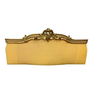 19th C Italian Parcel Gilt Upholstered Headboard For Sale
