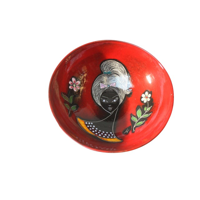 Mid Century Italian Modern Melior Enamel Bowl For Sale