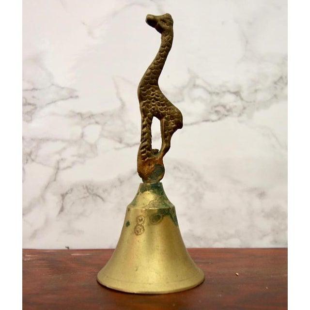 Vintage Brass Giraffe Vintage Bell - Image 3 of 4