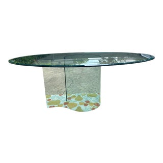 Fiam Italia Glass Dining Table For Sale