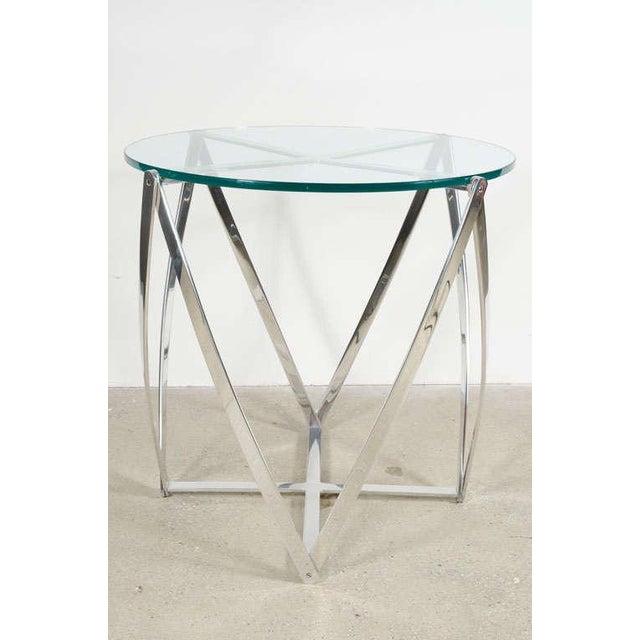 John Vesey John Vesey Aluminum Spool Lamp Table For Sale - Image 4 of 8