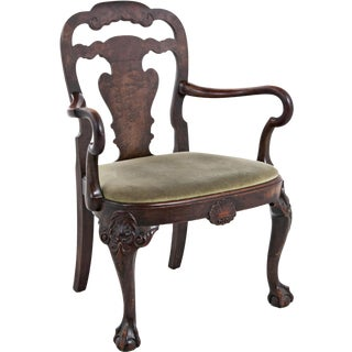 George II Style Walnut Arm Chair