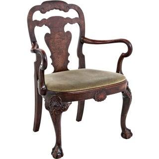 George II Style Walnut Arm Chair