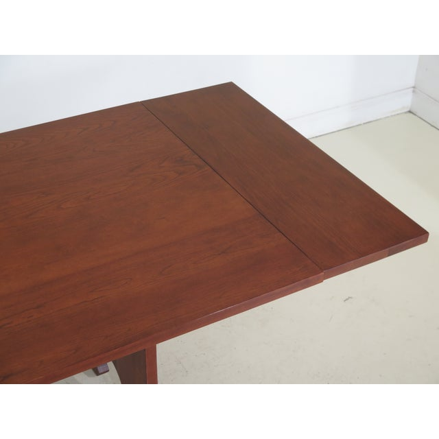 1990s Vintage Stickley Cherry Mission Style Cherry Dining Room Table For Sale - Image 9 of 12