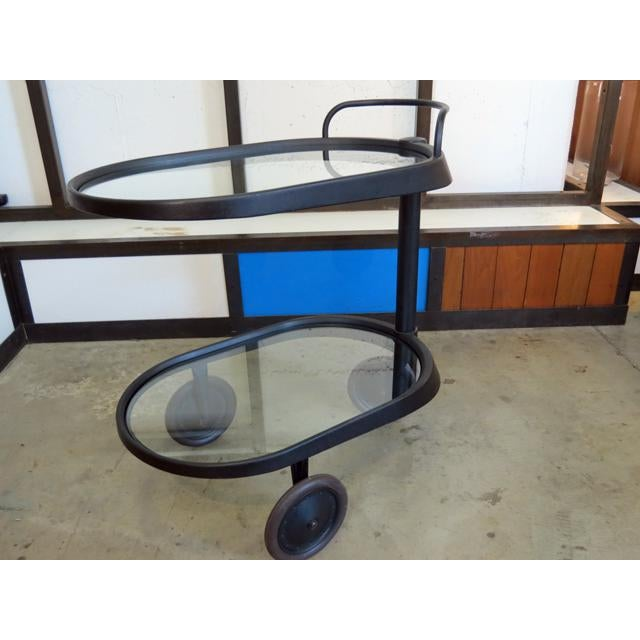 Black 1980s Mid Century Modern Enzo Mari for Alessi Bar/Tea Cart For Sale - Image 8 of 8