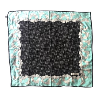 1990s Tiffany & Co. Ribbon Motif Large Silk Scarf For Sale