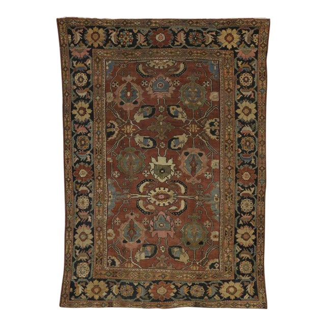Antique Persian Sultanabad Rug with Traditional Modern Style For Sale