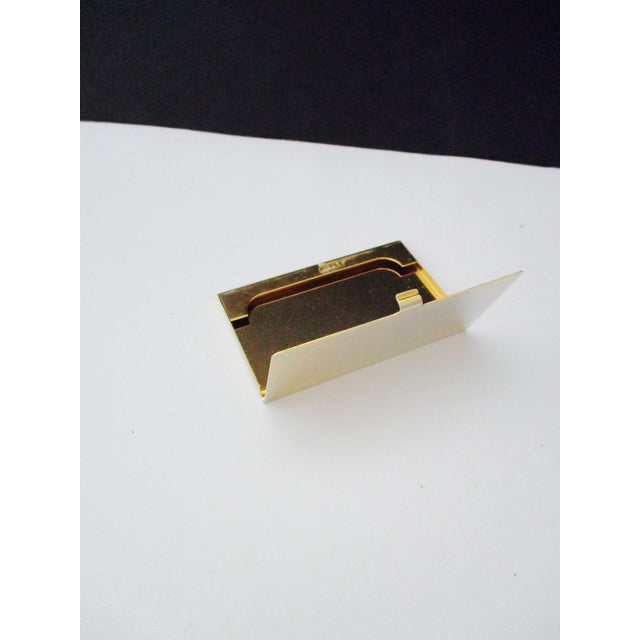 Harrods London Gold Compact Business Card Case - Image 6 of 8