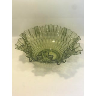 Fenton Olive Green Decorative Center Bowl Preview