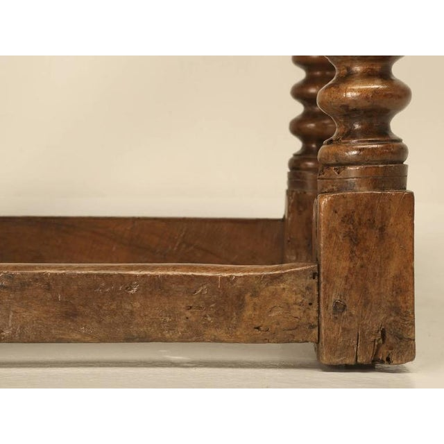 Antique Spanish Walnut End Table - Image 10 of 10