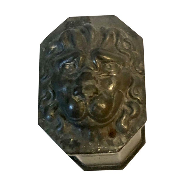 Antique French Lion Head Box For Sale In Tampa - Image 6 of 6