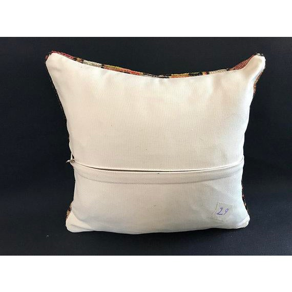 Decorative Vintage Antique Pillow Cover For Sale - Image 4 of 8