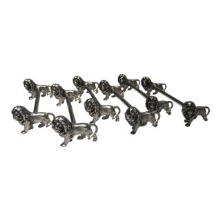 Vintage Lion Knife Rests - Set of 6 For Sale