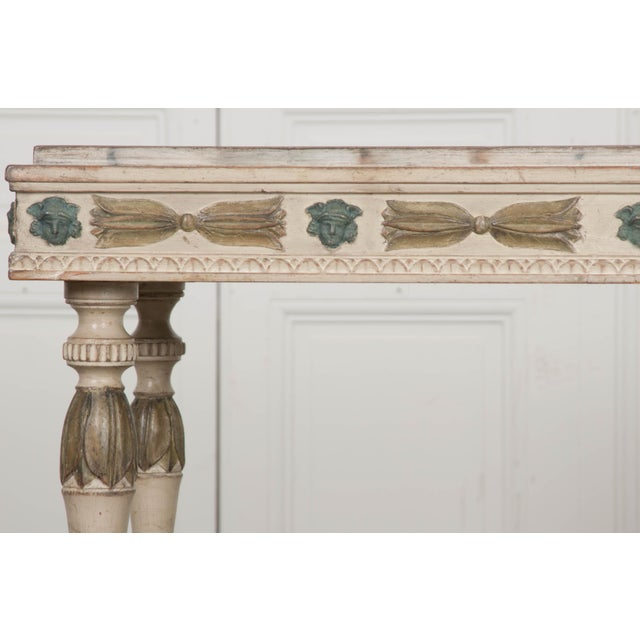 Wood Swedish 19th Century Carved and Painted Console For Sale - Image 7 of 12