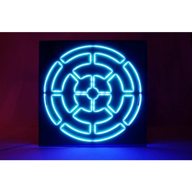 """""""Blue Radiance"""" Mandala Neon Sculpture by Christopher Sproat For Sale In New York - Image 6 of 6"""