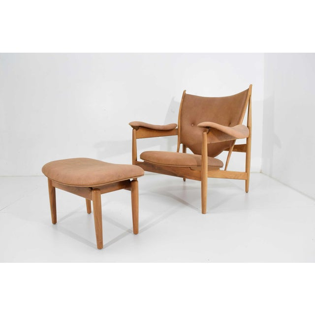 1990s Finn Juhl Chieftain Chair and Ottoman by Baker For Sale - Image 5 of 13