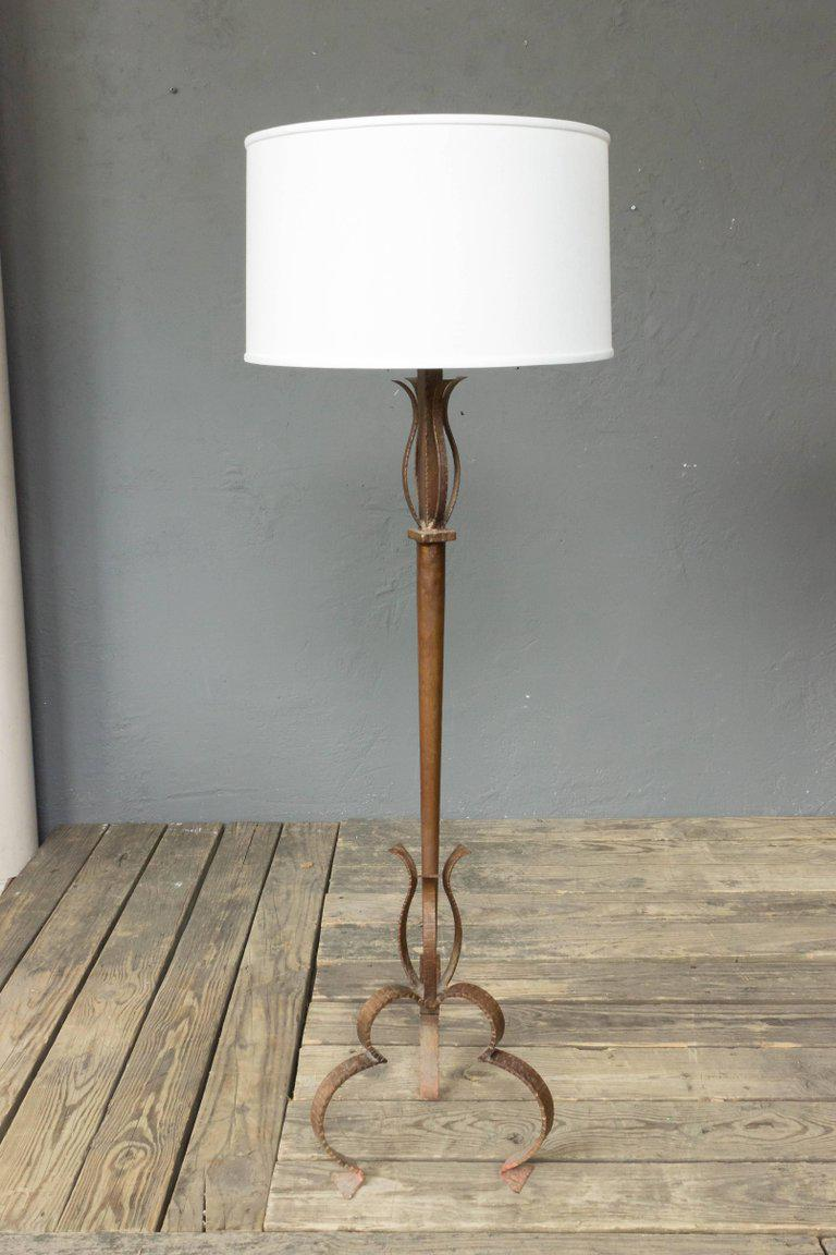 Large spanish gilt iron floor lamp image 2 of 8