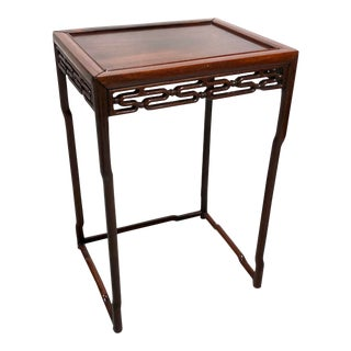 Antique Chinese Carved Rosewood Tea / Side Table For Sale