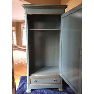 Green Painted Wood and Mirrored Armoire by Grange Preview