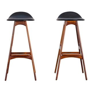 Erik Buch Model 61 Rosewood Barstools - a Pair For Sale