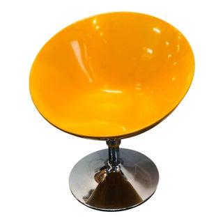 Yellow Mid Century Modern Vintage Egg Chair For Sale