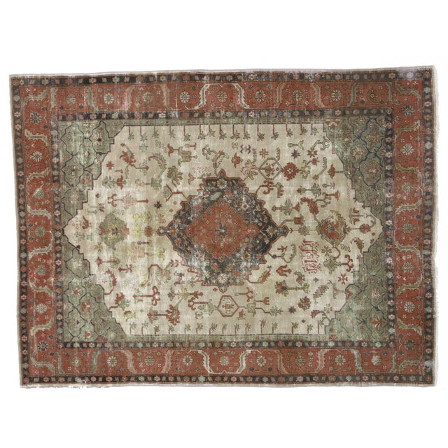 Distressed Antique Turkish Sparta Rug - 08'08 X 11'06 For Sale - Image 4 of 4