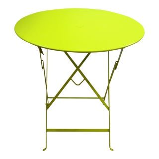 Yellow Fermob Bistro Table For Sale