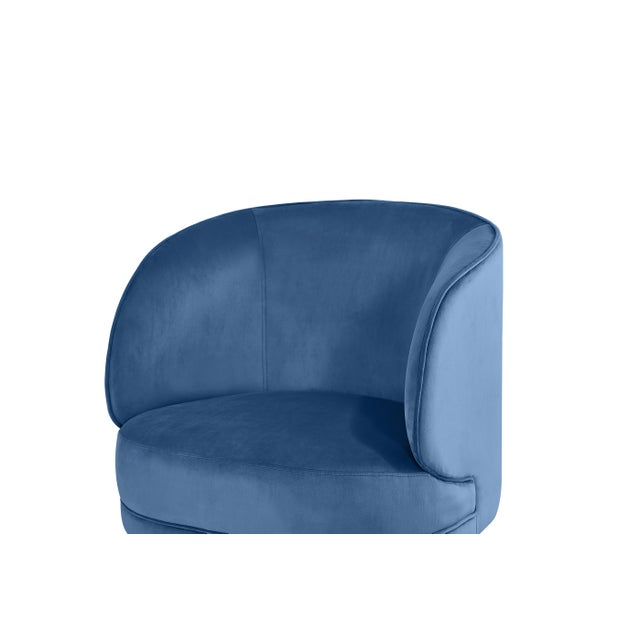 Carrie Armchair in Blue For Sale - Image 4 of 6