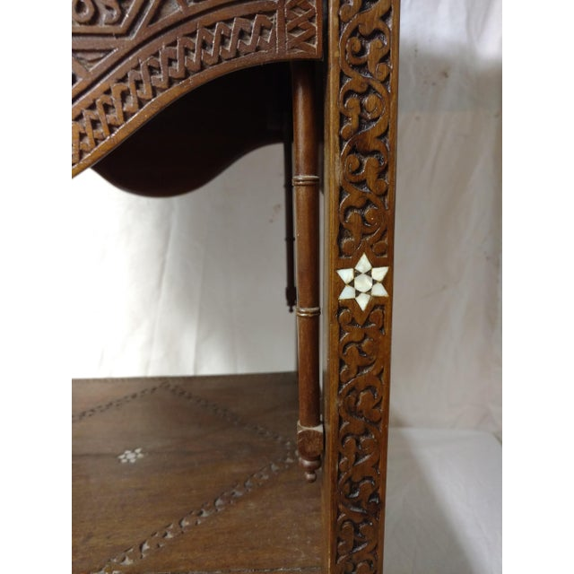 Anglo-Indian 19th Century Anglo Indian Inlaid Wood Tea Table For Sale - Image 3 of 10
