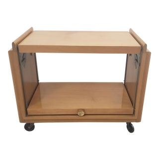 John Keal for Brown Saltman Mid Century Walnut Tea / Bar Cart C.1950s For Sale