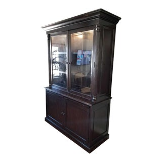 Dark Walnut Finish Lighted Display Case
