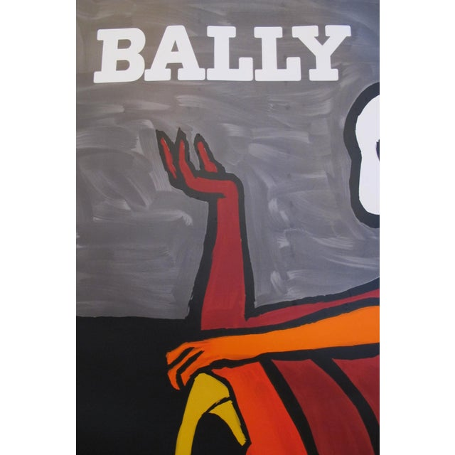 1986 Vintage French Bally Shoes Poster by Villemot - Image 3 of 4